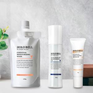 【公式】HOLOBELL(ホロベル)メンズ スキンケア フェイスケア3点セット 洗顔料 オールインワン化粧水 BBクリーム 男性用 乾燥肌・敏感肌・脂性肌・ニキビ肌|holo-bell-store