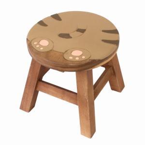 木製 椅子 イス インテリア 激安 家具☆木製 ラウンドスツール 椅子 おしりねこ(トラネコ) ハワイアン雑貨 アジアン雑貨|holoholo