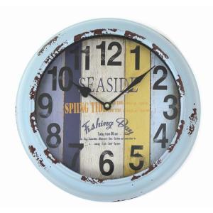 在庫処分 ハワイアン雑貨 インテリア ハワイ 雑貨 ハワイアン ヴィンテージクロック 掛け時計 (PUCL-1604A) ハワイアン雑貨