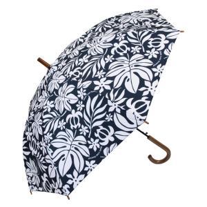 ハワイアン人気モチーフの大人ハワイアンな傘です。  憂鬱な雨の日も楽しめそうですね。   押すだけで...