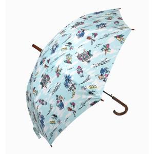 ハワイアン 傘  ハワイアン雑貨 Hula Lani フララニ ワンタッチ 雨傘 晴雨兼用 長傘 男女兼用(ハワイアン) サーフブランド holoholo