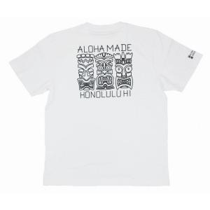メンズ 半袖 Tシャツ ハワイアン アロハメイド (メンズ/ホワイト) ハワイアン雑貨 フララニ サーフブランド ハワイアン 雑貨 メール便対応可 202MA1ST049