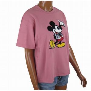 半袖 レディース Tシャツ ミッキーマウス ディズニー フララニ ハワイ サガラ刺繍 (M.ピンク) サーフブランド ハワイアン雑貨|holoholo