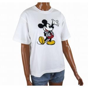 半袖 レディース Tシャツ ミッキーマウス ディズニー フララニ ハワイ サガラ刺繍 (ホワイト) サーフブランド ハワイアン雑貨|holoholo