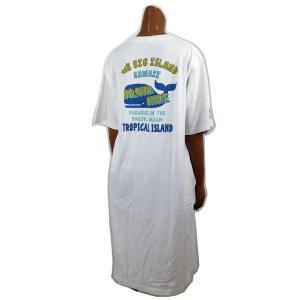 レディース Tシャツ 半袖 ハワイアン アロハメイド ワンピース(レディース/ホワイト)ハワイアン雑貨 212MA2OP016 ハワイアン雑貨 サーフブランド|holoholo