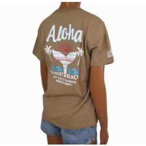 Tシャツ 半袖 レディース ハワイアン アロハメイド (レディース/ベージュ) ハワイアン雑貨 フララニ サーフブランド メール便対応可 212MA2ST115BEG|holoholo
