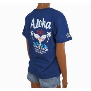 Tシャツ 半袖 レディース ハワイアン アロハメイド (レディース/ネイビー) ハワイアン雑貨 フララニ サーフブランド メール便対応可 212MA2ST115NVY|holoholo