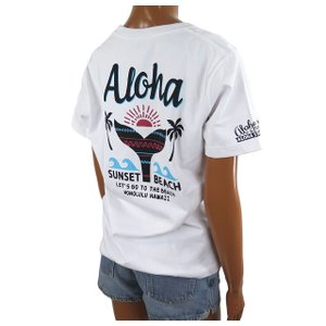 Tシャツ 半袖 レディース ハワイアン アロハメイド (レディース/ホワイト) ハワイアン雑貨 フララニ サーフブランド メール便対応可 212MA2ST115WHT|holoholo