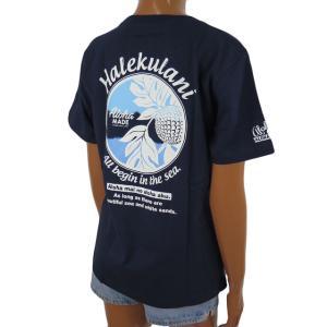 Tシャツ 半袖 レディース ハワイアン アロハメイド (レディース/ネイビー) ハワイアン雑貨 フララニ サーフブランド メール便対応可 212MA2ST117NVY|holoholo