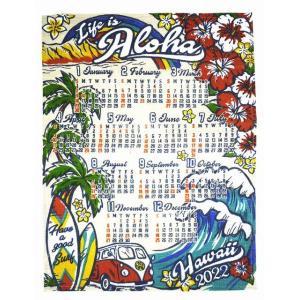 送料無料 ハワイアン雑貨 インテリア ハワイアン 2022年 ジュート カレンダー 壁掛けカレンダー...