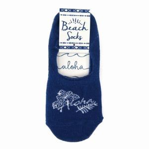 ハワイアン雑貨 ハワイアン 雑貨 カバーソックス (ハイビスカス アロハ ネイビー) 靴下 くつ下 フットカバー  Kahiko メール便対応可 ハワイ 雑貨 ギフト holoholo