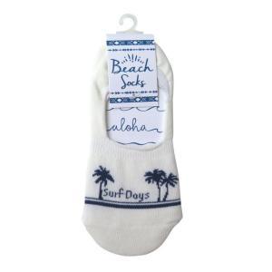 ハワイアン雑貨 ハワイアン 雑貨  カバーソックス (サーフデイズ) 靴下 くつ下 フットカバー Kahiko メール便対応可 ハワイ 雑貨 holoholo