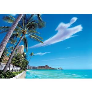 ハワイのイラストでお馴染みの栗山義勝氏のシリーズです。 どこに掛けるか迷ってしまいそうなくらい、とっ...