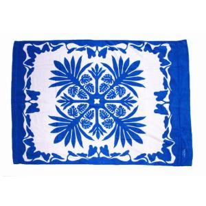 キャシーマム  ハワイアン タオルケット Kathy Mom アイランドスタイル ハワイアン雑貨 ハワイアン 雑貨(ティーリーフ/ホワイト) ギフト 送料無料|holoholo
