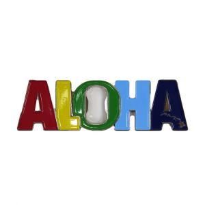 ハワイアン雑貨 ハワイ 雑貨 マグネット 栓抜き おしゃれ マグネット栓抜き ALOHA メール便対応可 磁石 冷蔵庫 ハワイ お土産|holoholo