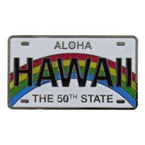 ハワイアン雑貨 ハワイ 雑貨 マグネット おしゃれ メタル マグネット ライセンスプレート メール便対応可 磁石 冷蔵庫 ホワイトボード ハワイ お土産|holoholo