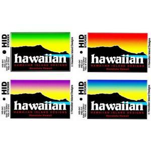 ハワイアン ハワイアン 雑貨 HID アイランドデザイン ステッカー(ダイアモンドヘッド-ハワイ) メール便対応可 ハワイアン雑貨 holoholo