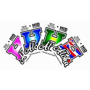 ハワイアン ステッカー デカール シール HID (H-ALOHA) メール便対応可 ハワイアン雑貨  ハワイ お土産 ハワイアン ハワイ雑貨 ハワイアン雑貨 インテリア holoholo