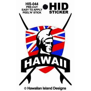 ハワイアン ステッカー デカール シール HID (キング フラッグ) メール便対応可 ハワイアン雑貨 holoholo