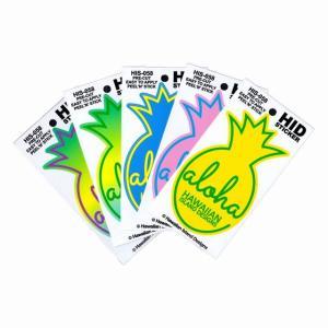 ハワイアン ステッカー デカール シール HID (ALOHA パイン/パイナップル) メール便対応可   ハワイ お土産 ハワイアン インテリア ハワイアン 雑貨 ハワイ雑貨 holoholo
