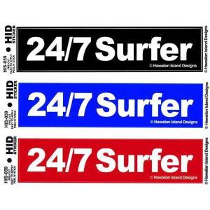 ハワイアン ステッカー デカール シール HID (24/7 Surfer) メール便対応可 ハワイアン雑貨  ハワイ お土産 ハワイアン 雑貨 インテリア ハワイ雑貨 holoholo