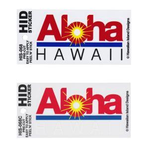 ハワイアン ステッカー デカール シール HID (Aloha HAWAII) メール便対応可 ハワイアン雑貨  ハワイ お土産 ハワイアン 雑貨 インテリア ハワイ雑貨 holoholo