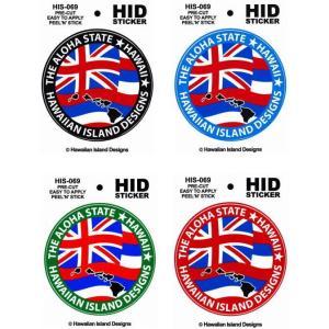 ハワイアン ステッカー デカール シール HID (ハワイ州-フラッグ/州旗) メール便対応可 ハワイアン雑貨  ハワイ お土産 ハワイアンインテリア ハワイアン 雑貨 holoholo