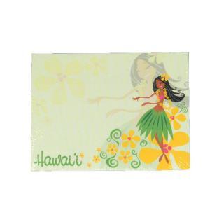 ハワイアン雑貨 付箋 ふせん ポストイット メモ帳 (ラブリーフラハンズ)  メモ用紙 ステーショナリー アイランドヘリテイジ メール便対応可 ハワイアン 雑貨|holoholo