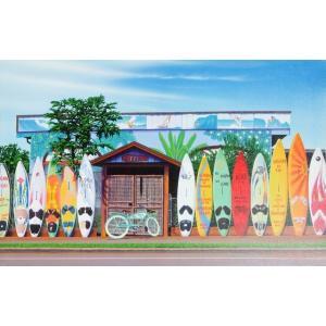 ハワイのイラストでお馴染みの栗山義勝氏のシリーズです♪  どこに掛けるか迷ってしまいそうなくらい、と...