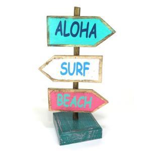 ハワイアン雑貨 インテリア ハワイアン☆ミニ☆ガイドスタンド(ALOHA・SURF・BEACH) ハワイ お土産 ハワイアン 雑貨 インテリア|holoholo
