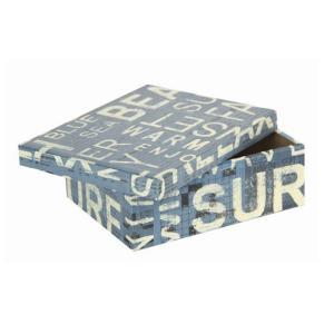 ギフトボックス 西海岸風のかっこいい リサイクルペーパー使用のボックス (Mサイズ)|holoholo