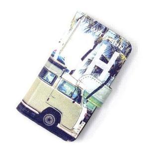 1c68a25df9 在庫処分 ハワイアン雑貨 汎用スマホケース 多機種対応 手帳型 スマホケース (Mサイズ) 「サーフワーゲンバス」 ハワイアン雑貨 ハワイ雑貨