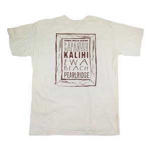 半袖 Tシャツ メンズ ハワイアン 雑貨 Rainbow Drive-In レインボードライブイン(LOCATION/アイボリー)|holoholo