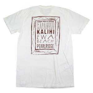 半袖 Tシャツ メンズ ハワイアン 雑貨 Rainbow Drive-In レインボードライブイン(LOCATION/ホワイト)|holoholo