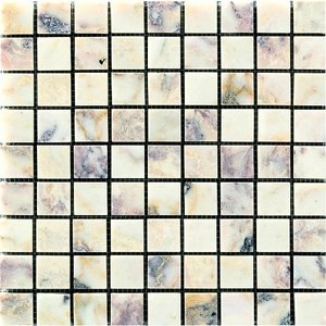 MARBLE MOSAIC 大理石モザイク 15角裏ネット貼り CH-1538|home-design
