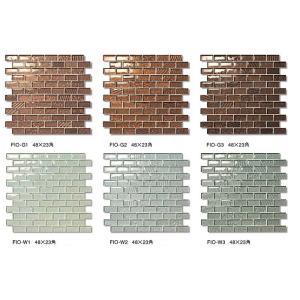 FIONA GLASS フィオナグラス 48X23角裏ネット貼り FIO-○(色番:○○)|home-design