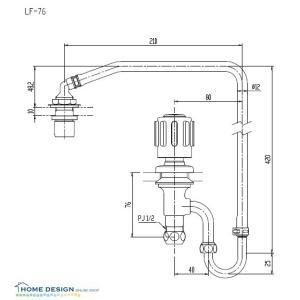 【LIXIL】INAX AWL-76用ハンドル式水栓部 LF-76 home-design