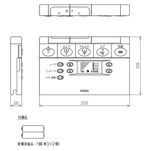 TCF-4121A用リモコン TCH754-4R TOTO トイレ|home-design