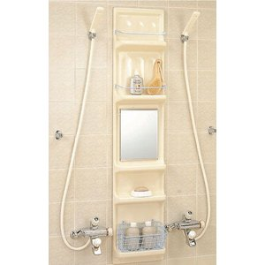 浴室収納棚 鏡付(平付) YR-316G/L11|home-design