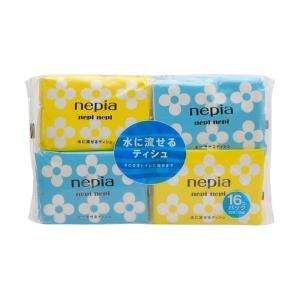 【あわせ買い1999円以上で送料無料】ネピア 水に流せるポケットティシュ 16個パック