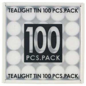【あわせ買い1999円以上で送料無料】カメヤマ ティーライトティン 100個入 植物原料 ( パームオイル ) 50%配合 ろうそく キャンドル
