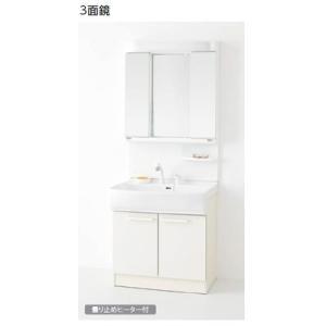 ノーリツ 洗面化粧台 シャンピーヌS 間口750mm 3面鏡 蛍光灯 シャワー水栓(ホワイト) LEM-753H/W+LSAB-70AWN1B (旧品番LEM-753H/W+LSB-70JWN1A)|homeassist