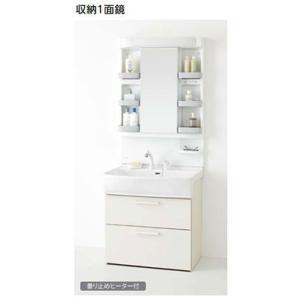 ノーリツ 洗面化粧台 シャンピーヌS 間口750mm 収納1面鏡 蛍光灯 シャワー水栓(ホワイト)LRCM-0756H/W+LSAB-74AWN1B(旧品番LRCM-0756H/W+LSB74JWN1A)|homeassist