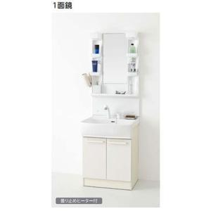 ノーリツ 洗面化粧台 シャンピーヌS 間口600mm 1面鏡 電球型蛍光灯 シャワー水栓(ホワイト)LSAM-6VSH+LSAB-60AWN1B|homeassist