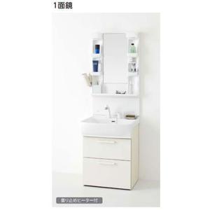 ノーリツ 洗面化粧台 シャンピーヌS 間口600mm 1面鏡 電球型蛍光灯 シャワー水栓(ホワイト) LSAM-6VSH+LSAB-64AWN1B|homeassist