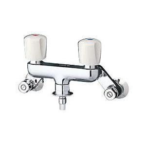 TOTO 洗濯機用混合水栓 「ピタットくん」 TW20-1R 緊急止水弁付き 2ハンドル混合栓|homeassist