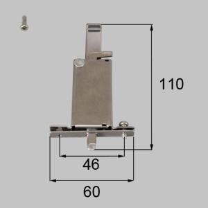 送料込み リクシル 新日軽 雨戸用部品 雨戸錠 下用 BKEY23 1個|homematerial