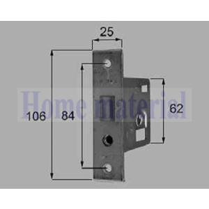 新日軽 ハンドル/クレセント/錠類 <錠類・ハンドル・シリンダー> 補助錠ケース H(シルバー) H8DL214P4 1セット|homematerial