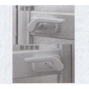 YKK 浴室 浴室ドア用部品 錠ケース品番:HH-J-0762 管理ナンバー YKB09009 梱包内容:2K-19036:1個(ハンドルは別途:HH-J-0761)|homematerial