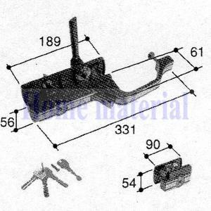 立山アルミ 玄関ドア 錠 PKD2190 注意 外観右吊り用|homematerial